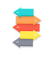 colorful arrows for list vector image vector image