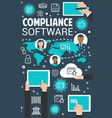compliance management software concept banner vector image