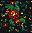 embroidery pattern for design vector image