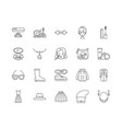 fashion line icons signs set outline vector image vector image