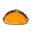 fast food taco mexican menu restaurant vector image vector image