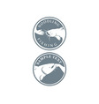 fishing icon vector image vector image