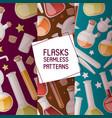 flasks set seamless patterns vector image