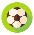 Football Soccer Ball Circle Icon vector image