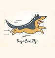 funny cute cartoon german shepherd dog vector image