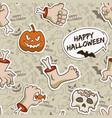 gray halloween seamless pattern vector image vector image