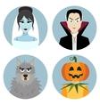 Halloween character set Vampire werewolf dead vector image