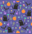 halloween magic background vector image vector image