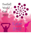 hand sketched football is my favourite sport text vector image vector image