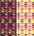 hot small fish pattern vector image vector image