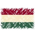 Hungarian grunge flag vector image