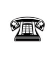 icon retro phone handset and buttons vector image