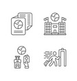 immigration linear icons set embassy vector image vector image