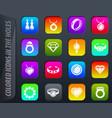 jewelry icons set vector image