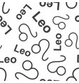 leo zodiac sign seamless pattern background vector image vector image