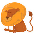 lion cartoon animal character vector image vector image