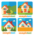 little homes icons vector image vector image