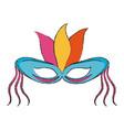 mardi gras mask vector image vector image