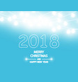 merry christmas and new year 2018 typographical vector image