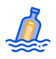 message in bottle icon outline vector image vector image