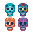 mexican culture set skull mask vector image vector image