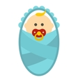 Newborn baby icon flat style vector image