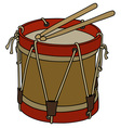 Old military drum vector image vector image