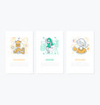 photography concept - line design style banners vector image