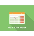 plan your week concept with a calendar and long vector image
