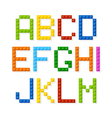 Plastic construction blocks alphabet vector image vector image