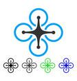 quadrocopter flat icon vector image vector image