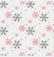 red and black snowflake seamless pattern snow on vector image vector image
