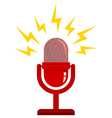 red microphone new white vector image vector image