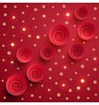 red spiral twisted paper circles with gold vector image vector image