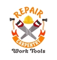 Repair and carpentry work tools icon vector image vector image