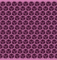 seamless pink cube pattern vector image