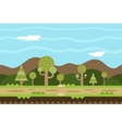 Seamless Road Nature Concept Flat Design Landscape vector image
