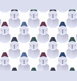 seamless texture with 3d paper origami snowman in vector image vector image