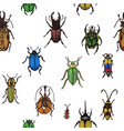 sketch of a bugs ornament vector image vector image