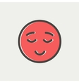 Smiling while sleeping thin line icon vector image vector image