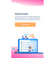 social media profile screen office worker search vector image vector image