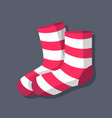 socks symbol object flat icon vector image