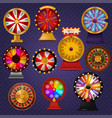 spinning fortune wheel lucky roulette casino vector image
