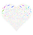 surgery knife fireworks heart vector image vector image