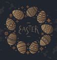 the circular template of easter egg flat vector image vector image