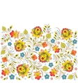 traditional russian floral pattern vector image vector image