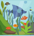 underwater seascape with exotic fish vector image vector image
