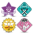 vape life labels vector image