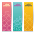 Vertical Banner Set Of Three Vintage Graphic Theme vector image vector image