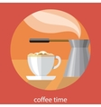 Vintage card of coffe time vector image